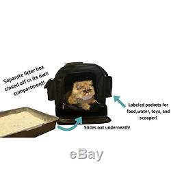 All-in-One Cat Carrier with Built in Litter Box/Tray Storage Compartment! One of