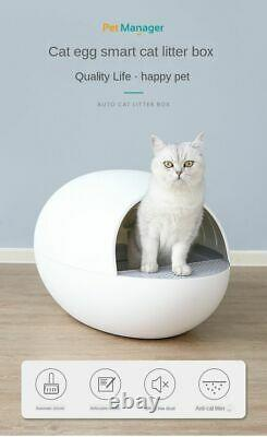 Anti-Splash Smart Cat Toilet Fully Automatic Electric Cleaning Cat Litter Box