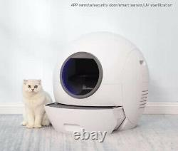App Controlled Automatic Self Cleaning Cat Sandbox Smart Litter Box Closed Tray