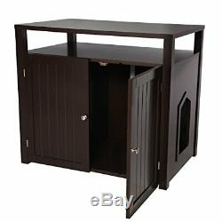 Arf Pets Cat Litter Box Enclosure Furniture Large Box House with Table