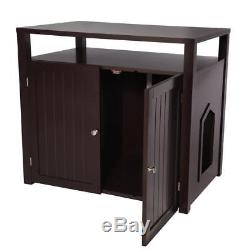 Arf Pets Cat litter Box Enclosure, Furniture Large House with Table