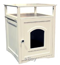 Attractive Multi Functional Washroom Night Stand Pet House Classic Clean White