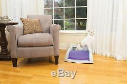 Automatic Cat Litter Box Self Cleaning Scoop Free Disposable Trays Kitten Purple