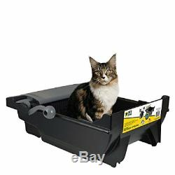 Automatic No Touch Litter Box Self Cleaning for Cats Kitty Feline Wastes Pan Bin