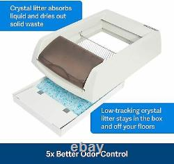 Automatic Self Cleaning Cat Litter Box Taupe Includes Litter Disposable Tray
