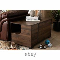Baxton Studio Connor Modern and Contemporary Walnut Brown Finished 2-Door Cat
