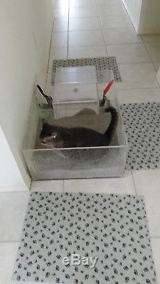 Cat Box Supreme Litter Box, 24 x 21 Litter Area 12 walls to contain litter