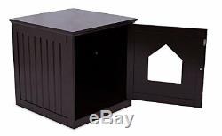 Cat House Pet Kennel Wood Desk Stand End Table Furniture Litter Box Enclosure