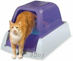 Cat Liter Box Self Cleaning Hooded Cat Litter Box with Disposable Trays Easy Scoop