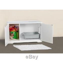 Cat Litter Box Enclosure and Bench Merry Products Storage Coffee Table