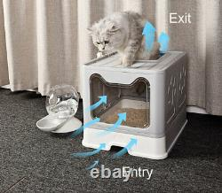 Cat Litter Box Hooded Kitten Tray Large Filter Toilet Quality Pan With Scoop
