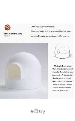 Cat Litter Box Lid Large Scooper Pan Snow House Igloo Solide Stylish High-Sided