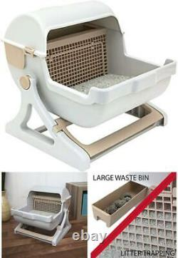 Cat Litter Box Premium Self Cleaning Automatic Pan Lid Cover Toilet Easy To Use