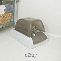 Cat Litter Box Scoop Free Self Cleaning Odour Control Use Less Litter Hood
