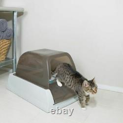 Cat Litter Box Self Clean with Silicate Cat Litter Odour Control Healthy