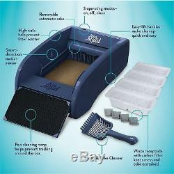 Cat Litter Box Self-Cleaning Automatic Scooping with Paw Cleaner Ramp High Quality