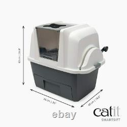 Cat Litter Box With Automatic Litter Sifter Easy Mess Free Eco Friendly