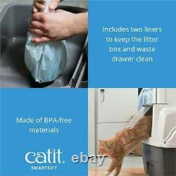 Cat Litter Box With Automatic Litter Sifter Easy and Mess Free Eco Friendly
