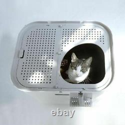Cat Litter Box XL With Front and Top Entry Reuseable Litter Insert Keep Clean