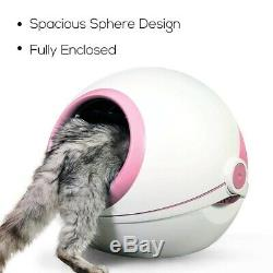 Cat Litter Box with Cat Litter Scoop Carbon Filtered Fully Enclosed Rounded Roll