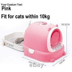 Cat Litter Box with Lid Fully Enclosed Cat Litter Toilet Tray Large Capacity