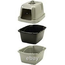 Cat Litter Pan Enclosed Extra-Giant Cover Odor Large Box Jumbo with Lid
