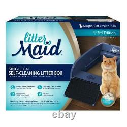 Cat Litter Single Cat Self Cleaning Box Automatic Scooping Odor Control NEW
