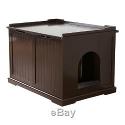 Cat Pet House XL and Litter Box Wooden Construction Sturdy Elegant Functional