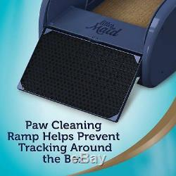 Cat Self-Cleaning Litter Box Automatic Odor Control High Walls Kitty Paw Ramp