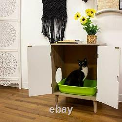 Cat Walk Furniture Contemporary Home Cat Grey Wood Grain with White Doors