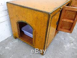 Cats Litterbox in flat Chest Of Drawers Lowboard Orange Country House Style