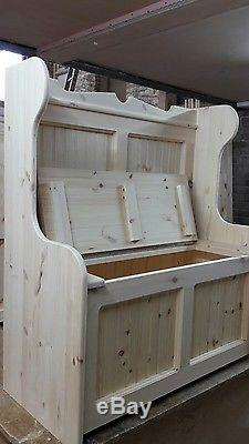Church pew Monks bench settle with built in cat basket bed / litter tray hider