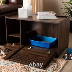 Claire Brown Cat Litter Box Cover House