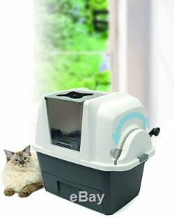 Covered Self Cleaning Multi Cat Liter Box Automatic Scoop Lid Kitty Clumping Pan