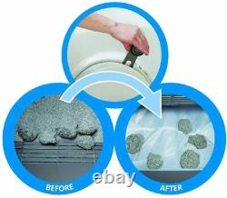 Create Cat Litter Box With Automatic Litter Sifter Easy Mess Free Eco Friendly