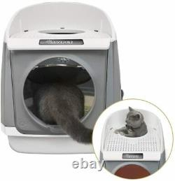 DADYPET Cat litter tray Cat Litter Box XXL, Double-Door Cat House, Front Entry
