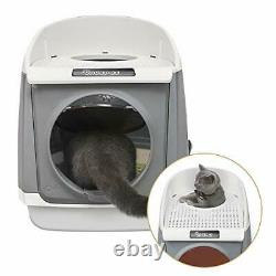 DADYPET Pet Cat Litter Box, Double-Door Cat House, Front Entry and Top Exit, Lar