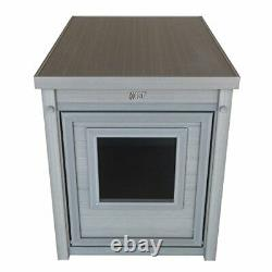 ECOFLEX Litter Box Cover End Table Grey