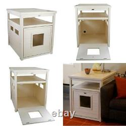 Ecoflex Jumbo Litter Box Cover End Table In Antique White