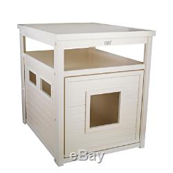 Ecoflex Jumbo Litter Box Cover/End Table In Antique White