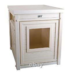 Ecoflex Litter Box Cover End Table In Antique White