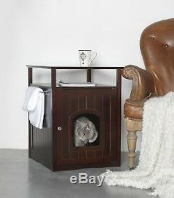 Fancy Cat Dog House / litter box Washroom Night Stand table Pet House furniture