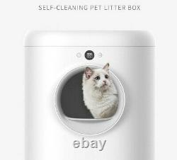 Fully Enclosed Automatic Intelligent Smart Cat Litter Robot Box Self Cleaning