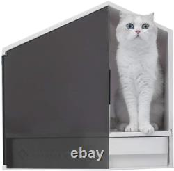 Furrytail Glow House Cat Litter Box, Semi-Enclosed and Front Door Entrance Cat