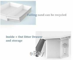 Furrytail XL Semi-Closed Glow House Cat Litter Box with Scoop AU STOCK