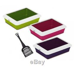 Heritage Large Cat Litter Tray With Rim Colours Quality Box Pan Toilet Loo