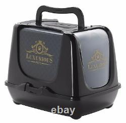 Heritage Luxurious Pets Cat Litter Tray Toilet Carrier Double Bowls Storage Bin