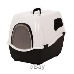Heritage White & Black Sumo Cat Toilet Loo Hooded Litter Tray Cats Pan & Filter