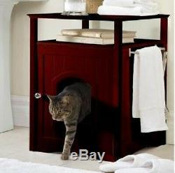 Hidden Pet Litter Box Cat Small Dog Wooden Furniture House Night Stand Bed Wash