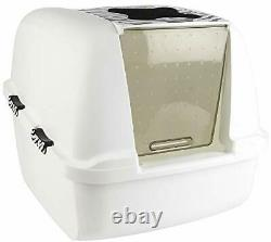 Hooded Cat Litter Tray Pan Box Large Cats Jumbo Size Top Traps Toilet Odours New